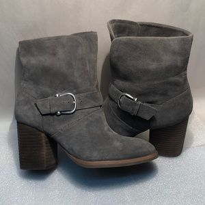 Isola Womens Lavoy Suede Ankle Boot - Gray - 7.5M